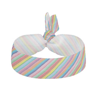 Modern colorful striped pattern custom elastic hair tie