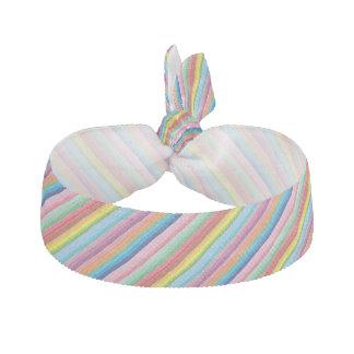 Modern colorful striped pattern custom hair ties