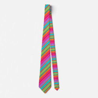 Modern Colorful Striped Tie