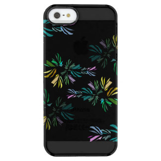 Modern Colorful Stylized Fish Print Clear iPhone SE/5/5s Case