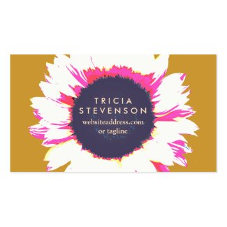 modern colorful sunflower cute floral business card templates - Girly Business Cards