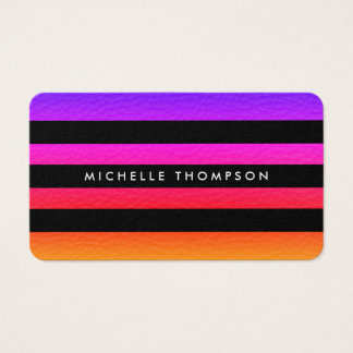Modern Colorful Texture with Black Stripes Business Card