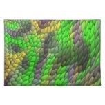 Modern colorful tile pattern place mat