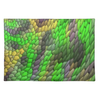 Modern colorful tile pattern place mat