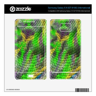 Modern colorful tile pattern samsung galaxy s II skins