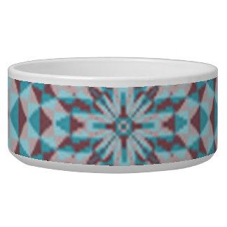 Modern colorful trendy circle pet bowls