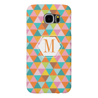 Modern Colorful Triangle Background Samsung 6 case