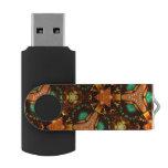 Modern colorful unique pattern swivel USB 3.0 flash drive
