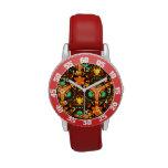 Modern colorful unique pattern wrist watch
