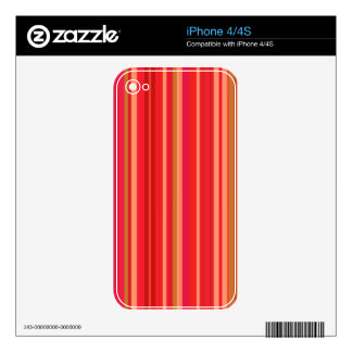 Modern Colorful Warm Striped Red Skins For iPhone 4