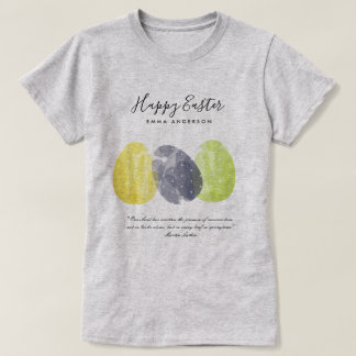 MODERN COLORFUL WATERCOLOR EASTER EGGS PERSONALIZE T-Shirt