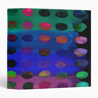 Modern Colorful Watercolor Spots and Stripes Binder