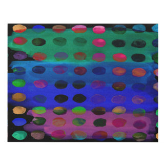 Modern Colorful Watercolor Spots and Stripes Panel Wall Art