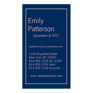 Modern Colors :: Blue & Pink Business Card