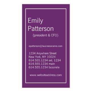 Modern Colors :: Phlox & White Business Card