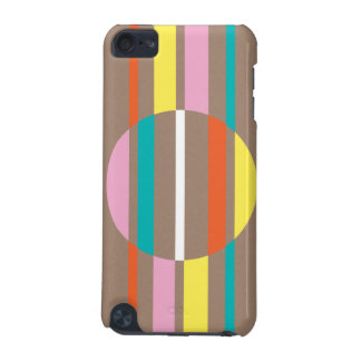 Modern colourful abstract stripes pattern iPod touch 5G case