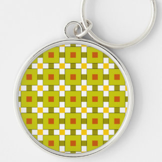 Modern Colourful Squares Pattern Keychain