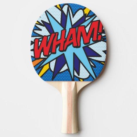 Modern Comic Book WHAM Ping Pong Paddle