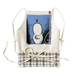Modern commode system zazzle HEART apron