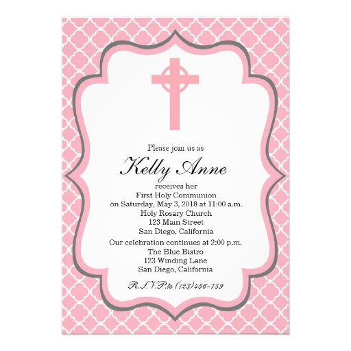Personalized Boy first communion Invitations ...