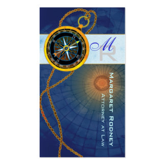 Modern Compass Attorney Law Office Business Cards