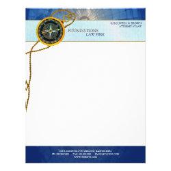 Modern Compass Legal Business Letterheads