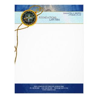 Modern Compass Legal Business Letterheads Letterhead