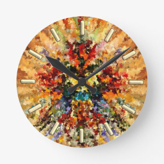 modern composition 10 by rafi talby round clock