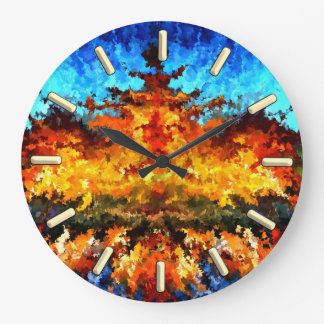 modern composition 11 by rafi talby large clock
