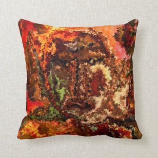 Modern composition 19 by rafi talby throw pillows