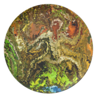 Modern composition 20 by rafi talby melamine plate