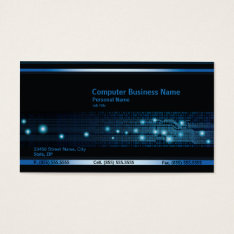 Modern Computer Business Business Card at Zazzle