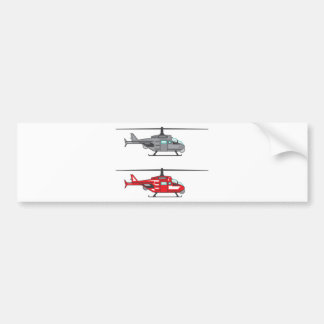 Modern Concept Helicopter Bumper Sticker
