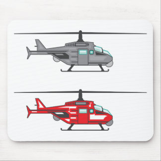 Modern Concept Helicopter Mouse Pad
