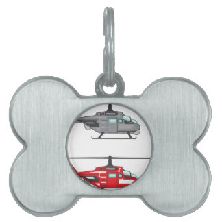Modern Concept Helicopter Pet Tag