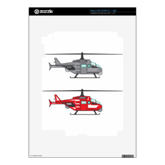 Modern Concept Helicopter Skins For iPad 2