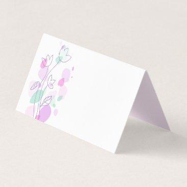 Art Themed Modern confetti flower purple wedding place cards
