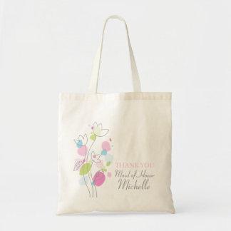 Modern confetti flower wedding maid of honor bag
