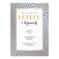 Modern Confetti Polka Dots Lavender Gold Party Invitation