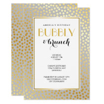 Modern Confetti Polka Dots Pattern Grey and Gold Card
