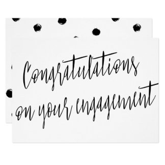 "Modern ""Congratulations on your engagement"" Card"