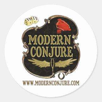 Modern Conjure Logo #1 Classic Round Sticker