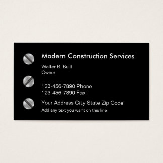 Modern Construction Business Card