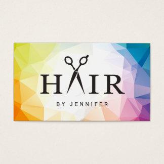 Modern Contemporary Abstract Hair Stylist Salon Business Card