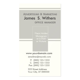 Modern Contemporary Business Design Double-Sided Standard Business Cards (Pack Of 100)