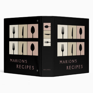 Modern Contemporary Cooking Recipe Book Binder