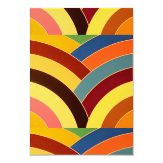 modern contemporary curved chevrons card
