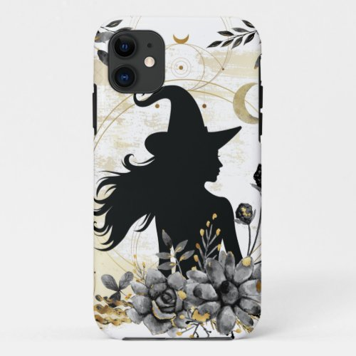 Modern contemporary Halloween witch 3 Phone Case