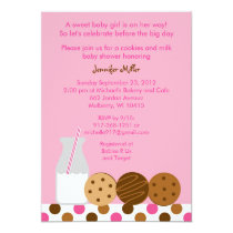 Modern Cookies and Milk Baby Shower Invitations