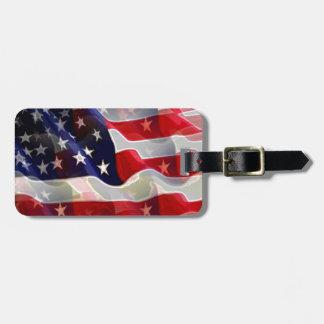Modern Cool American Flag Luggage Tag